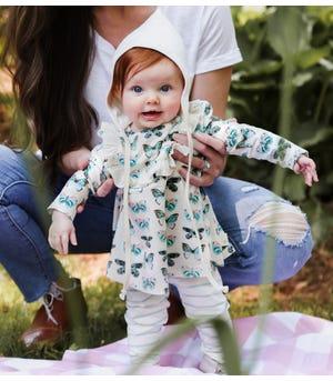 Butterfly Chart Organic Baby Tunic & LeggingSet