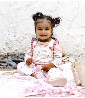 Lovely Floral Organic Baby Jumpsuit & Bodysuit Set