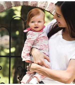 Mosaic Organic Baby Jumpsuit