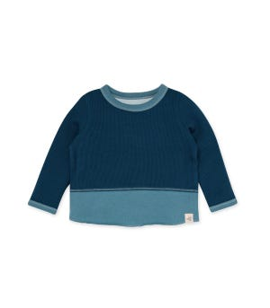 Thermal Organic Baby Colorblocked Tee