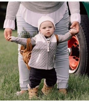 Quilted Organic Baby Utility Vest