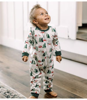 French Terry Winter Cabin Organic Baby Jumpsuit