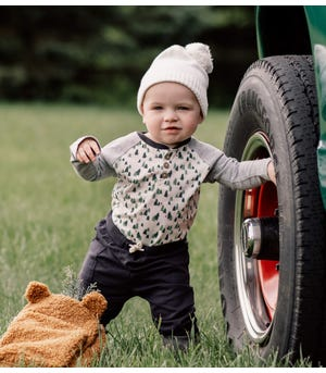 Growing Pines Organic Baby Bodysuit & French Terry Pant Set