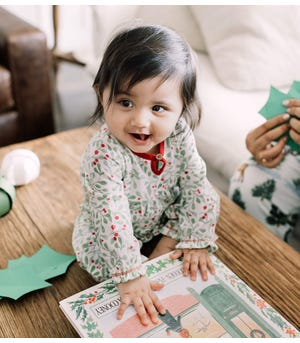 Boughs of Holly Organic Baby Jumpsuit
