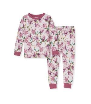 Magnificent Magnolias Organic Baby Snug Fit Pajamas