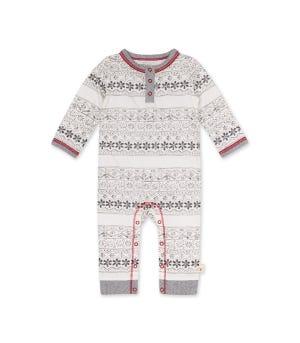 Simple Fair Isle Organic baby Jumpsuit