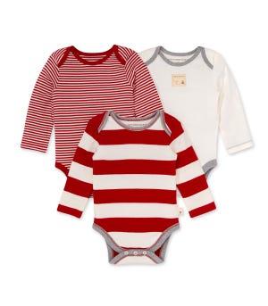 Mixed Stripe Bodysuit 3 Pack