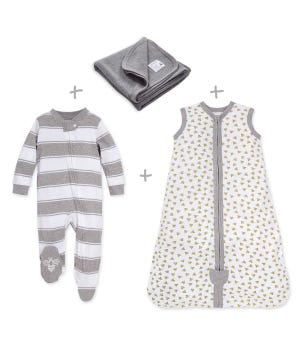 Honeybee Organic Baby Pajama and Bedding Set