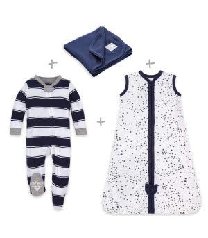 Twinkle Bee Organic Baby Pajama and Bedding Set
