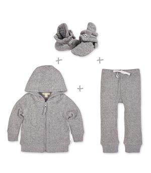 Matelass? Organic Baby Outfit 3 Piece Set