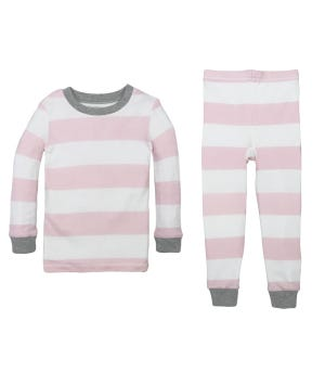 Rugby Stripe Organic Cotton Toddler Snug Fit Pajamas