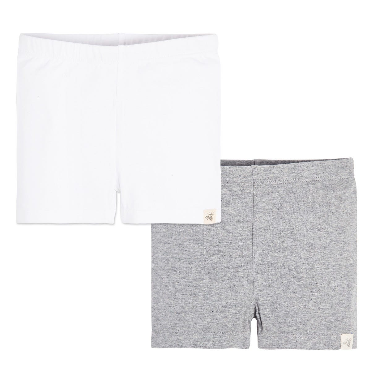 Stretch is Comfort Girls and Infant Cotton Biker Shorts Set Of 2 Pieces