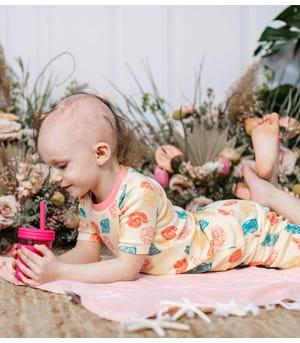 Watercolor Seashells Organic Baby Snug Fit Toddler Pajama Short Set