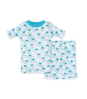 Palm Beach Organic Toddler Snug Fit Toddler Pajama Short Set