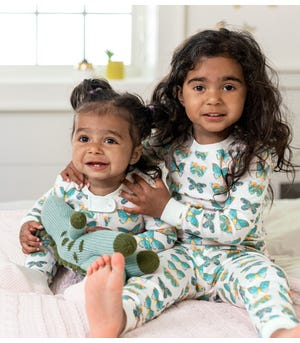 Butterfly Chart Organic Toddler Snug Fit Pajamas