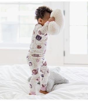 Starry Galaxy Organic Toddler Snug Fit Pajamas