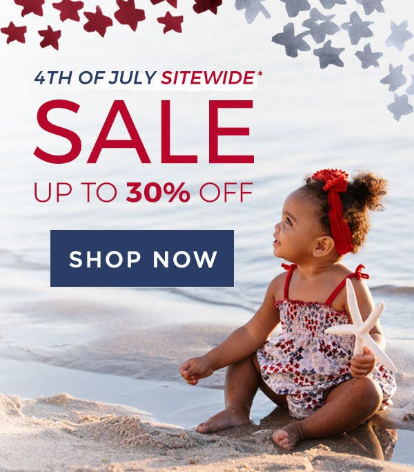 4th of July Sitewide Sale! Up to 30% off!