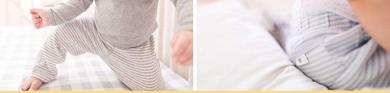 Burt's Bees Baby Bottoms: Easy, versatile and good looking pants! Organic cotton GOTS certified, breathable cotton - great for sensitive skin