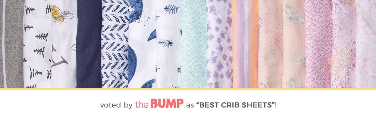 Burt's Bees Baby Crib sheets -  100% organic cotton, GOTS certified. Warmer to the touch than woven sheets, they provide a smoother transition from snuggled in your arms to safely sleeping in their crib.